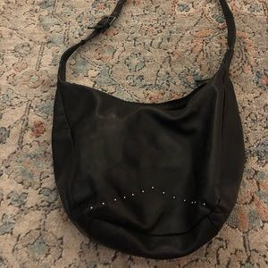 Studded Leather Sling Purse